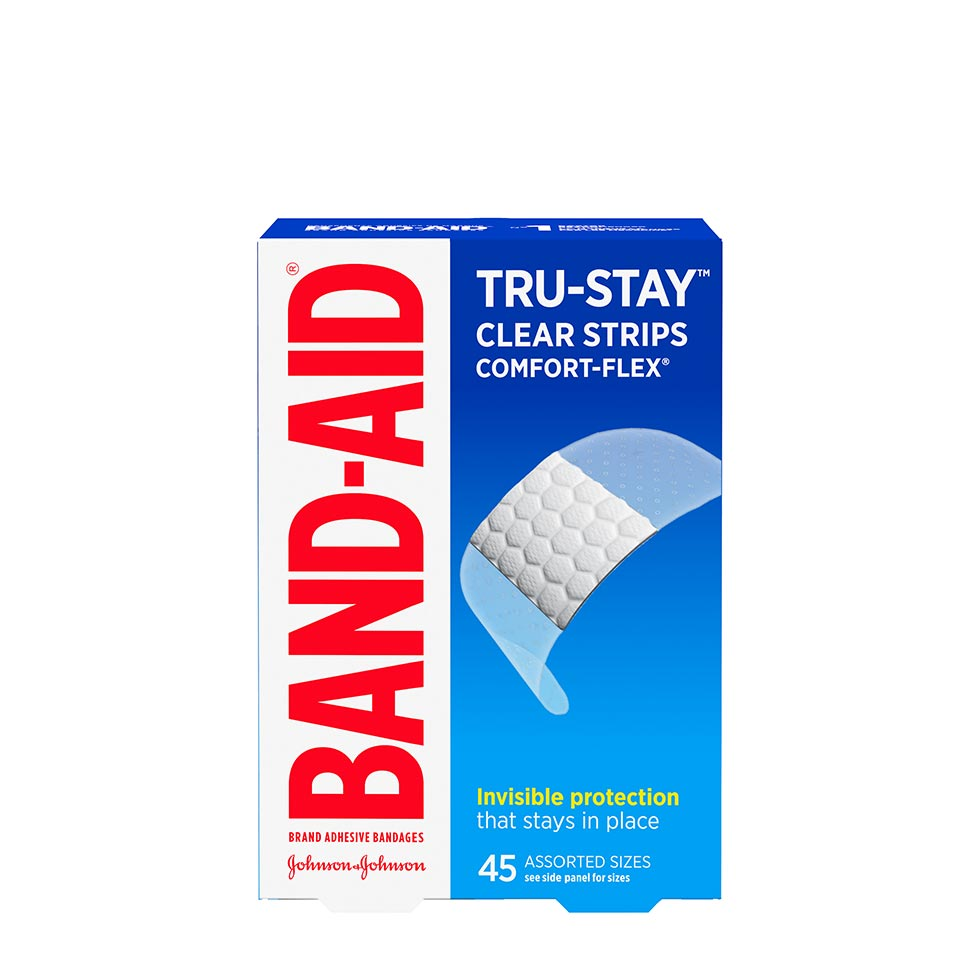 Band-Aid Tru Stay Sheer bandage box of 45 assorted sizes