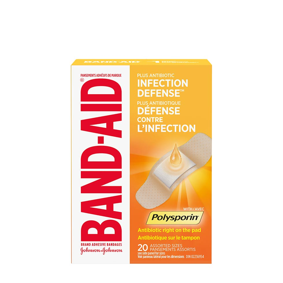 Band-Aid with Polysporin bandages pack of 20