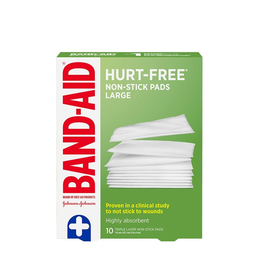 Band-Aid non stick large pads pack of 10