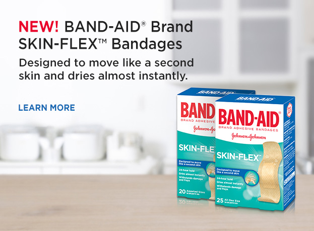 Band-Aid Skin Flex 2twoBoxes of Bandages