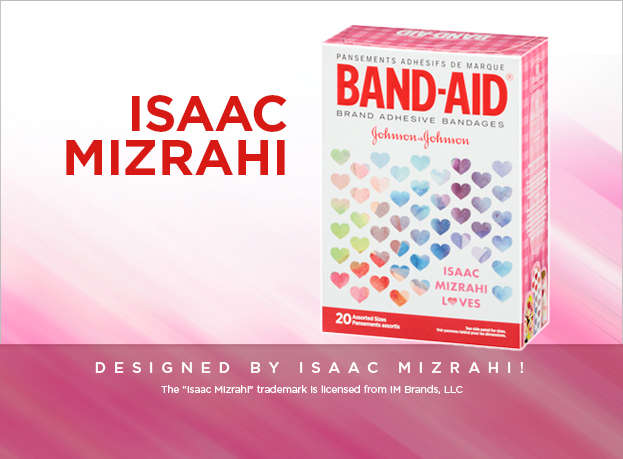 Isaac Mizrahi Bandages Twenty Assorted Band-Aids box