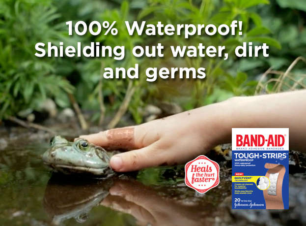 100% Waterproof! Shielding out water, dirt and germs