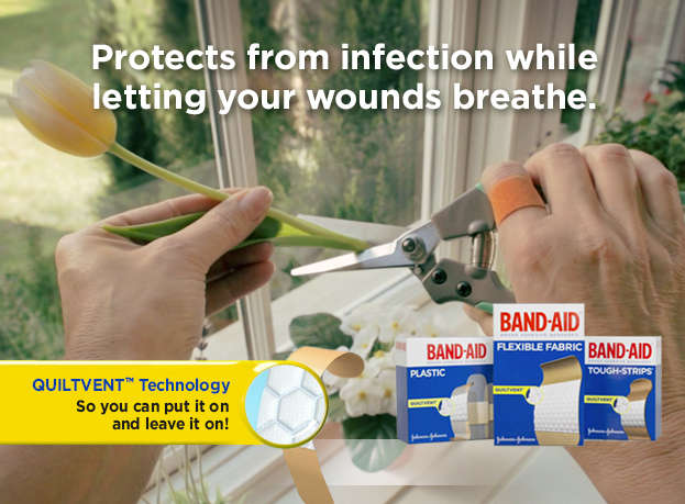 Protects from infection while letting your wound breath.