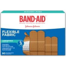 BAND-AID 80 Count Box of Flexible Fabric Adhesive Bandages
