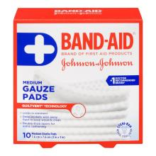 BAND-AID Gauze Pads Medium Size
