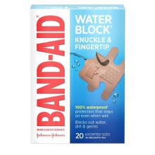 Band-Aid water block knuckle and fingertip bandages
