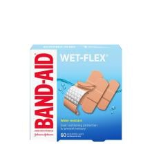 Band-Aid wet flex bandages in assorted sizes pack