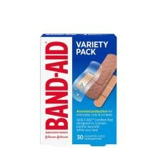 Band-Aid variety pack bandages in assorted sizes pack