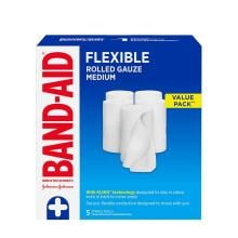 Band-Aid flexible rolled medium gauze pack of 5