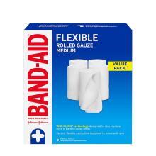 Band-Aid flexible rolled medium gauze pack of 5
