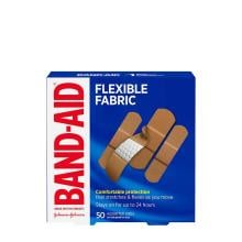 Band-Aid Flexible fabric bandages in 50 assorted sizes