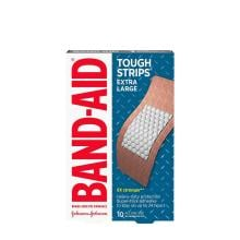 Band-Aid Tough Strips extra large bandages pack of 10