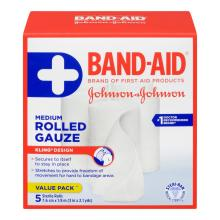 BAND-AID Rolled Gauze Medium Roll Multi Count