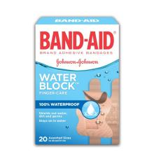 BAND-AID Water Block Plus Finger Care Waterproof Bandages