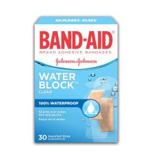 BAND-AID Water Block Plus Box of Assorted Waterproof Adhesive Bandages