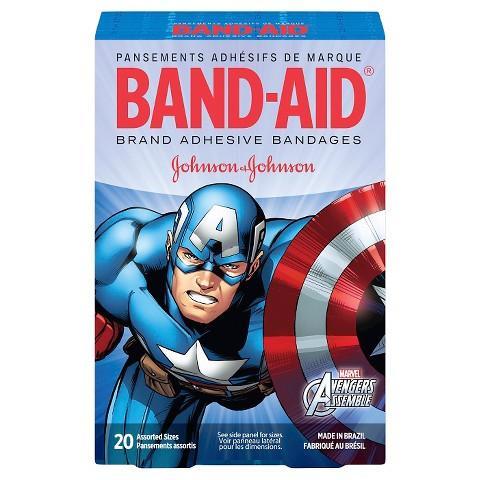 Marvel Avengers Adhesive Bandages Box by Band-Aid