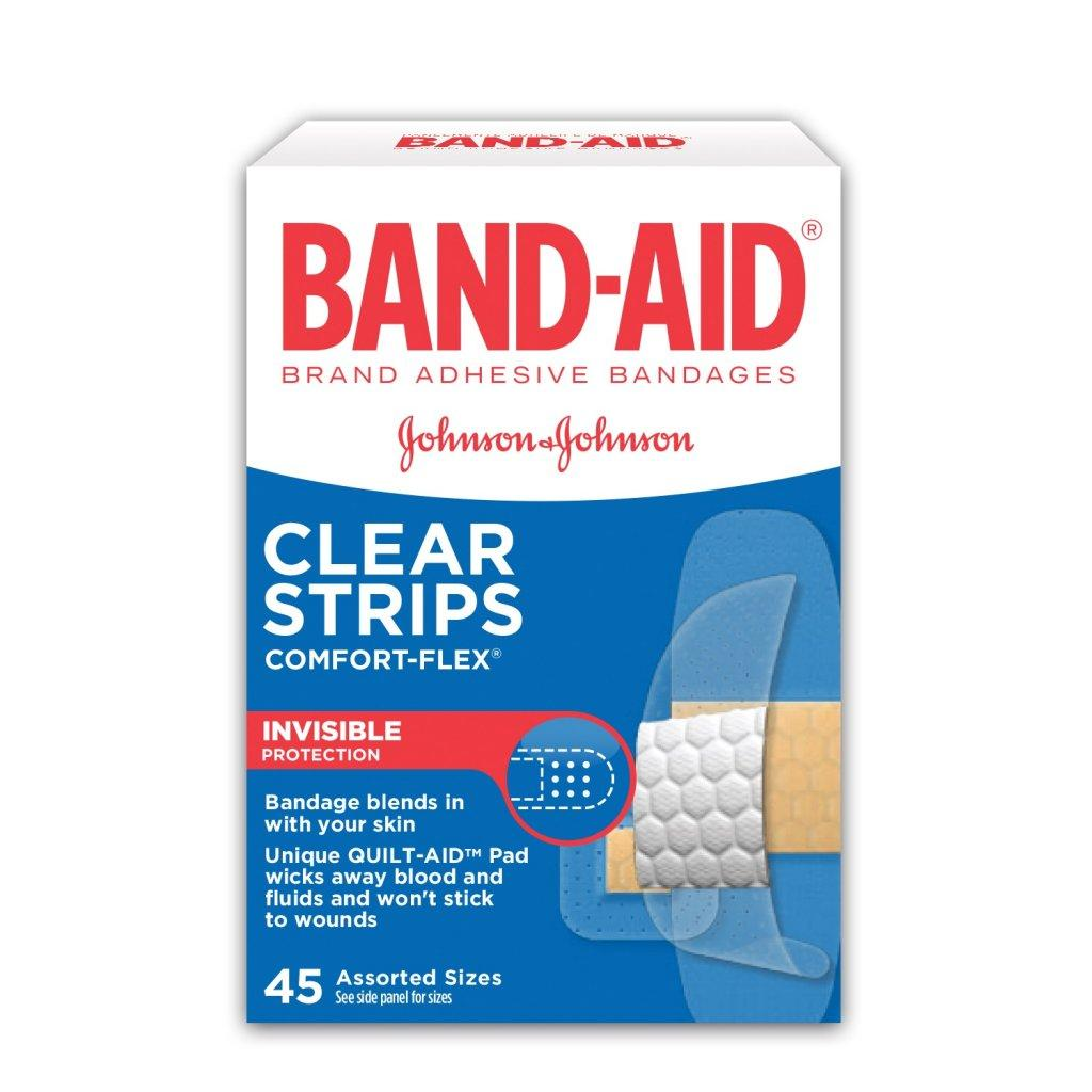 BAND-AID Comfort Flex Clear Invisible Bandages for Wounds