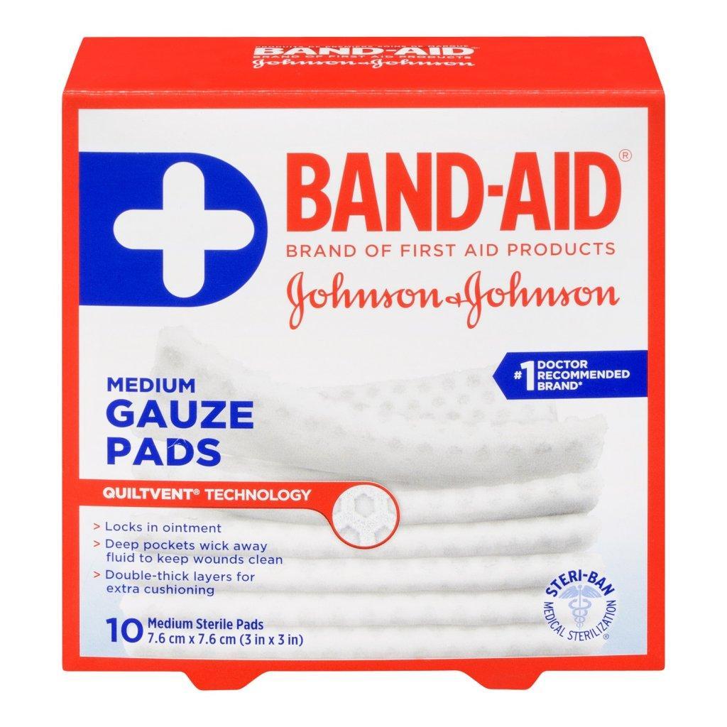 BAND-AID Gauze Pads Medium Size