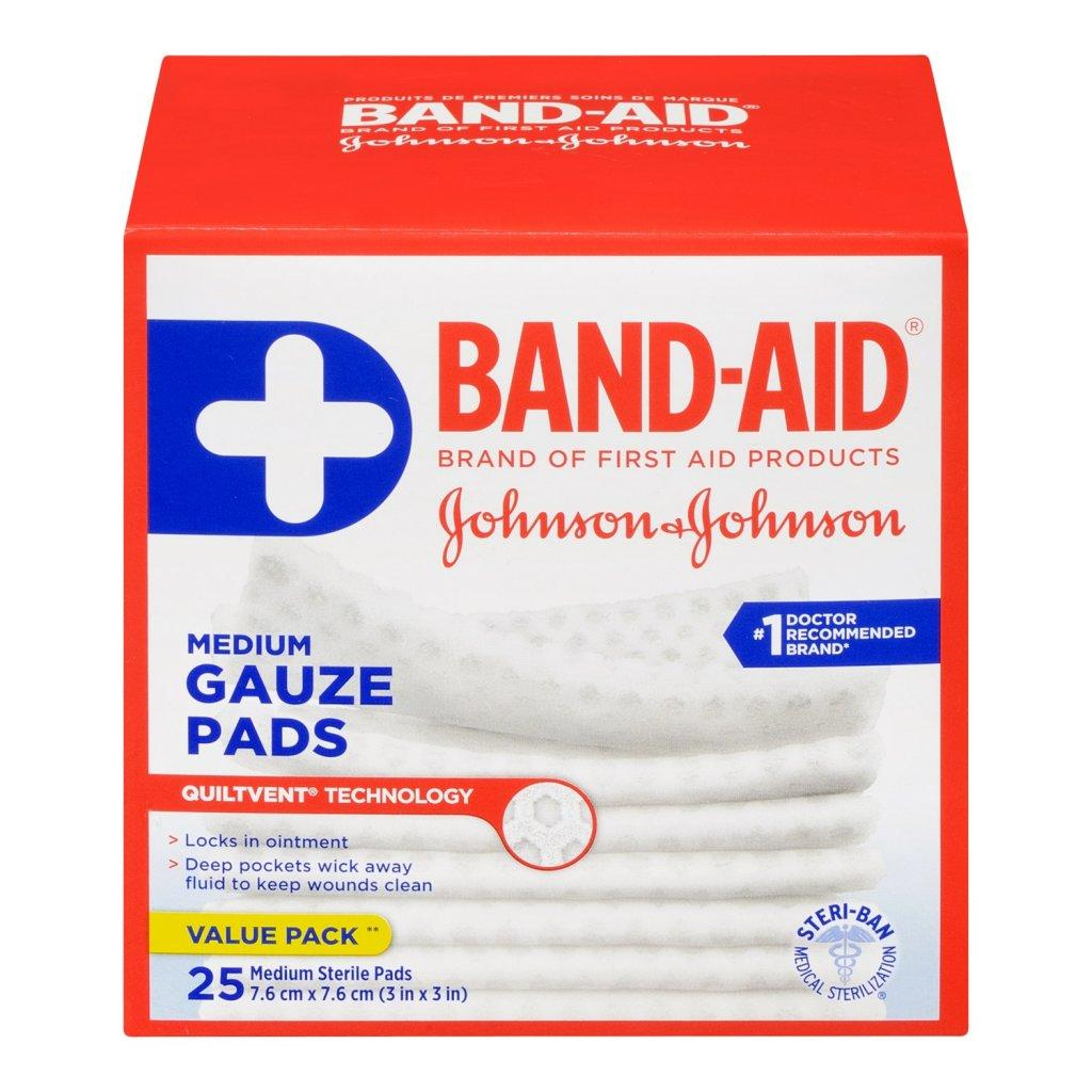 BAND-AID Sterile Gauze Pads Medium Size