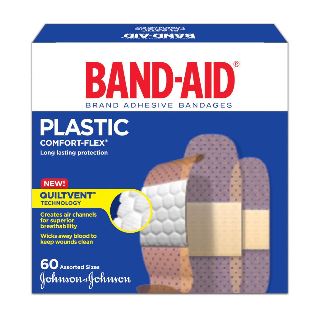 Assorted Strips Family Pack, 60 Bandages