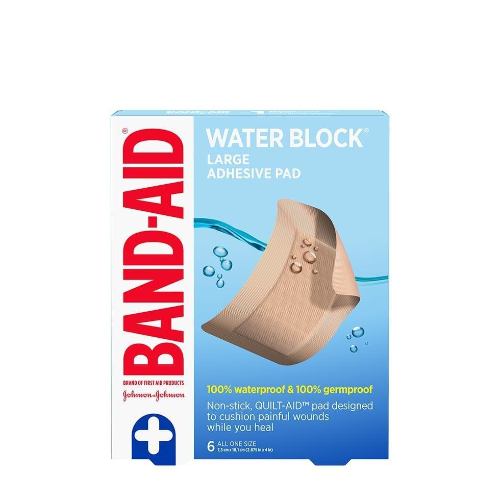 Band-Aid water block large adhesive pads