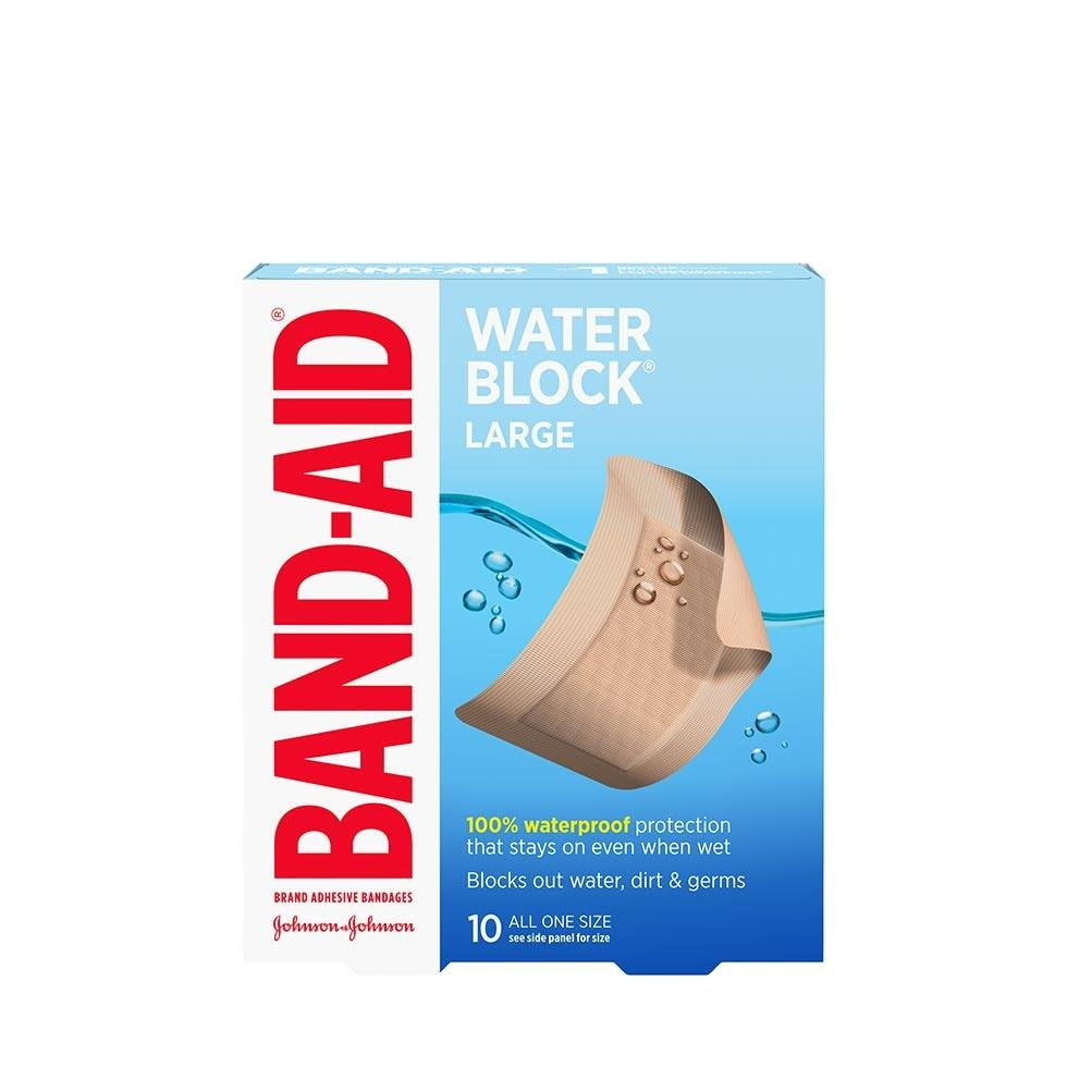 Band-Aid water block large bandages pack