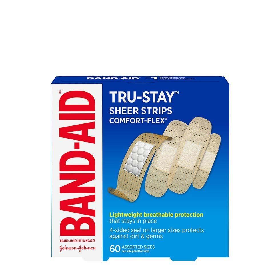 Band-Aid Tru Stay Sheer bandage strips pack