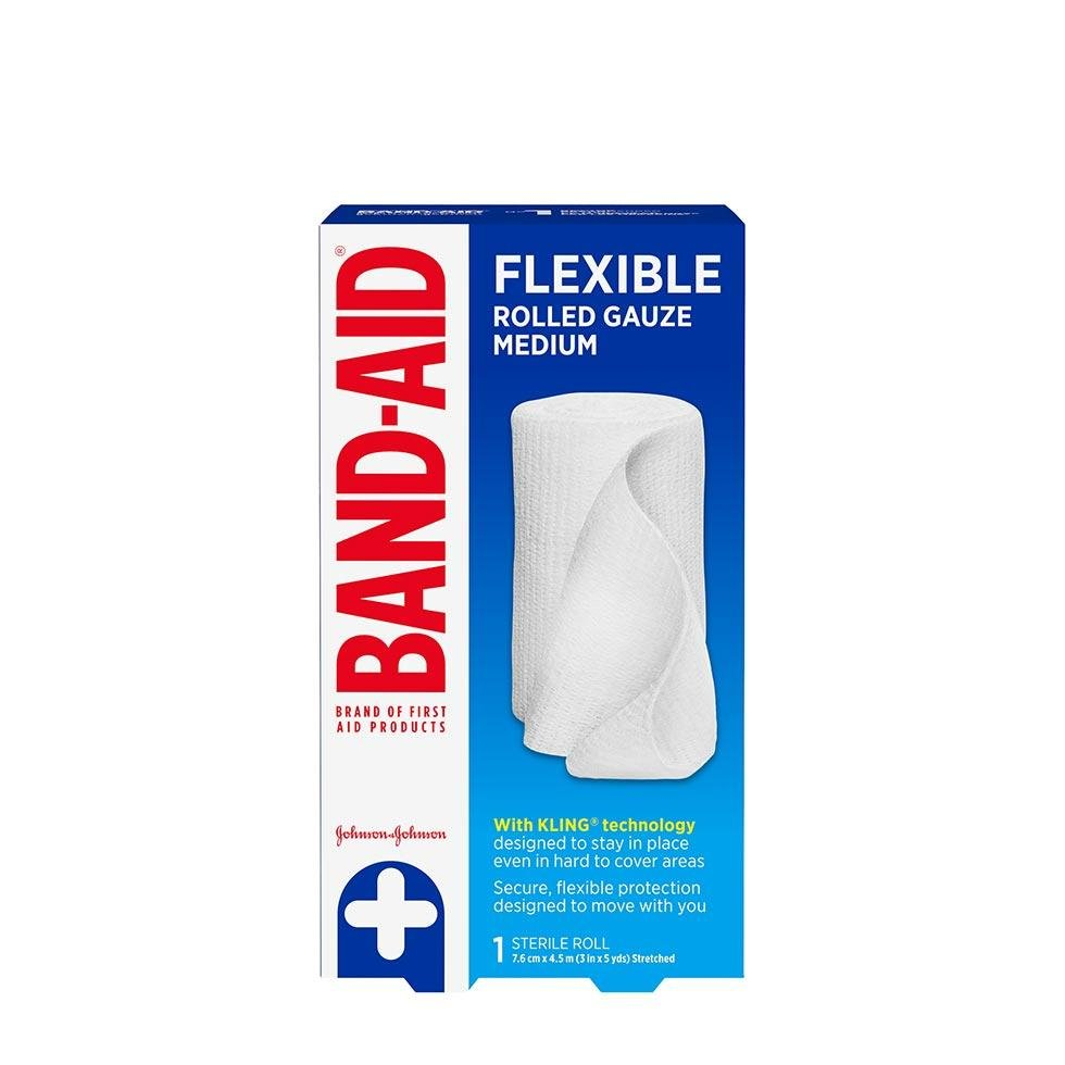 Band-Aid flexible rolled sterile gauze pack