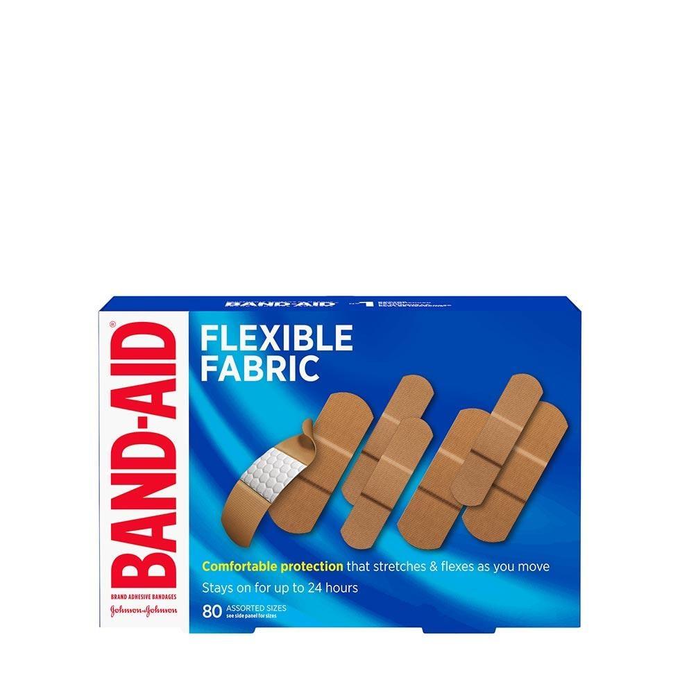 Band-Aid flexible fabric bandages 80 assorted sizes box