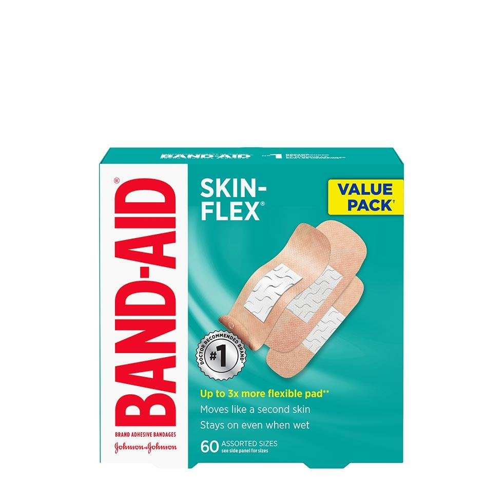 Band-Aid Skin flex value pack of 60 assorted sizes