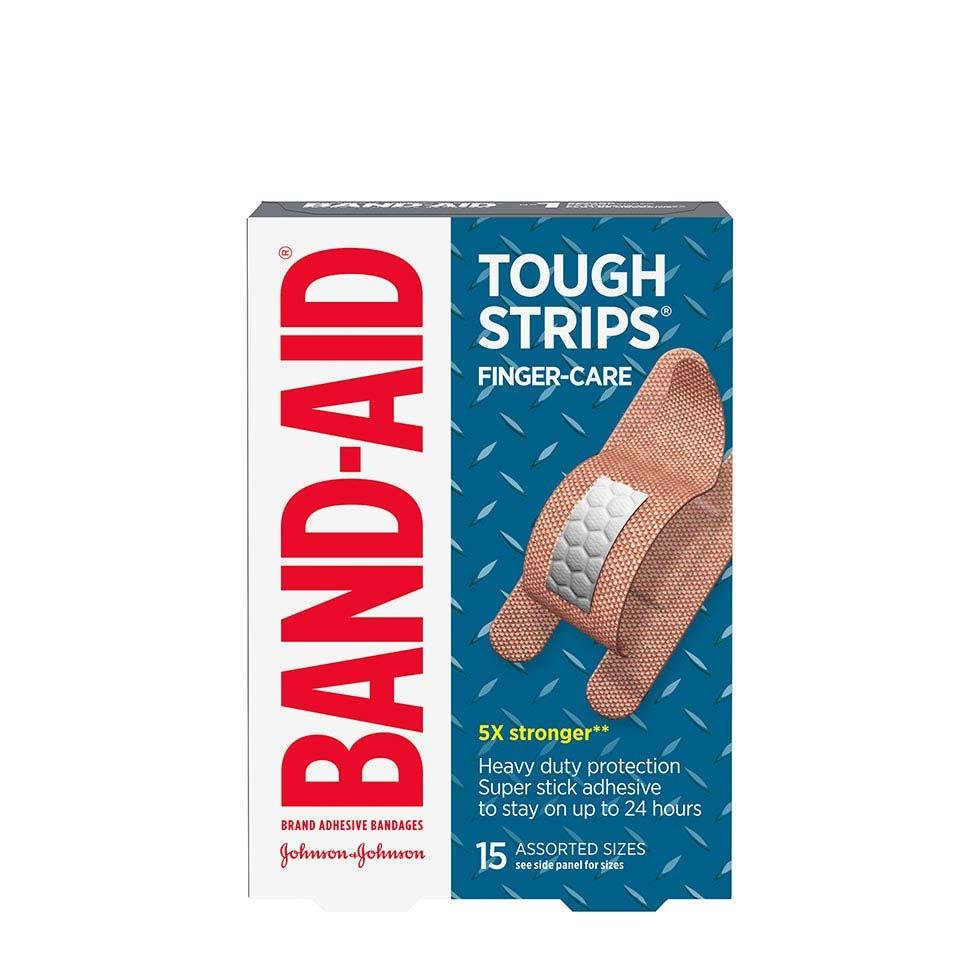 Band-Aid finger bandages in assorted sizes pack