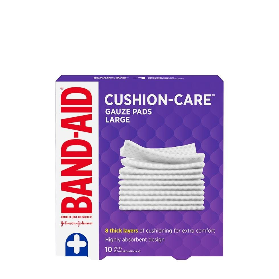 Band-Aid large gauze pads pack of 10