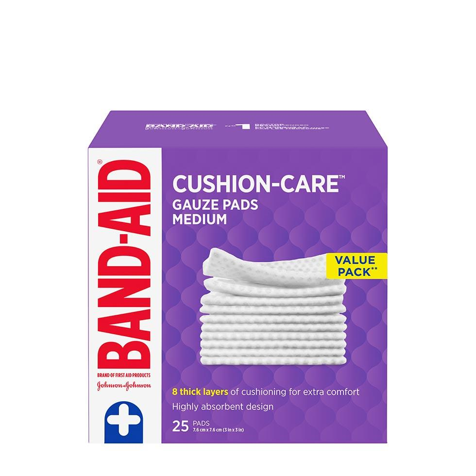 Band-Aid medium gauze pads value pack of 25