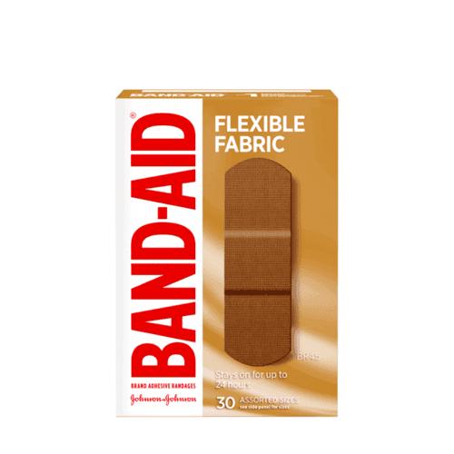Band-Aid Flexible Fabric Bandages, 30 Assorted Sizes box, BR45