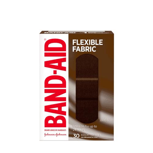Band-Aid Flexible Fabric Bandages, 30 Assorted Sizes box, BR65