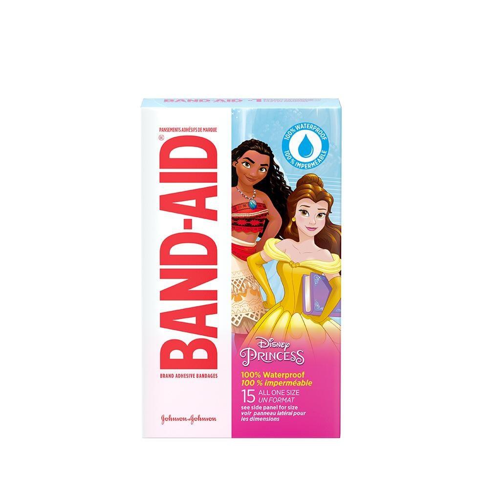 Disney Princess BAND-AIDs, 15 count, Waterproof adhesive bandages