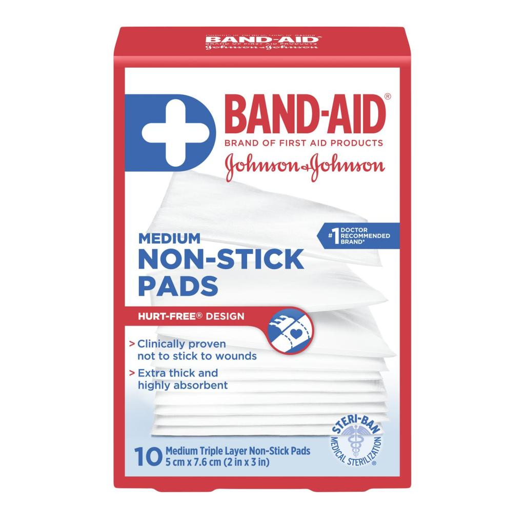 Non-Stick Pads, 5 cm by 7.6 cm, 10 Pads