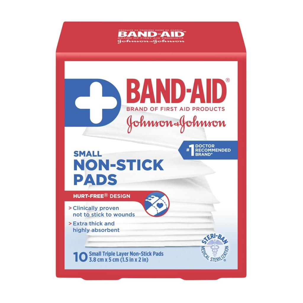 Non-Stick Pads, 3.8 cm by 5 cm, 10 Pads