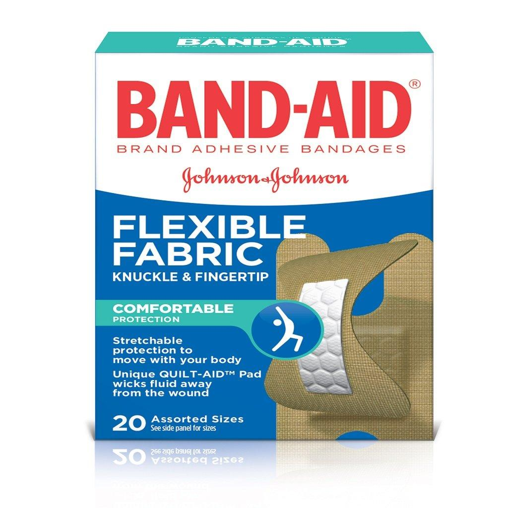BAND-AID Flexible Fabric Bandages for Knuckles and Fingertips