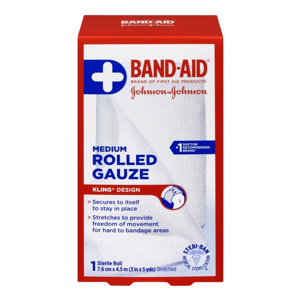 BAND-AID Rolled Gauze Medium Roll