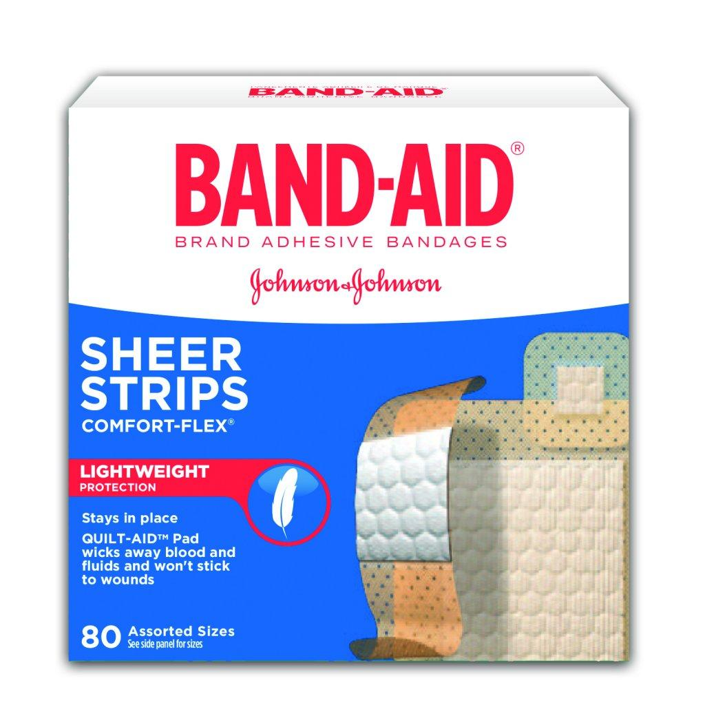 BAND-AID Comfort Flex Adhesive Plastic Bandages 80 Count Box