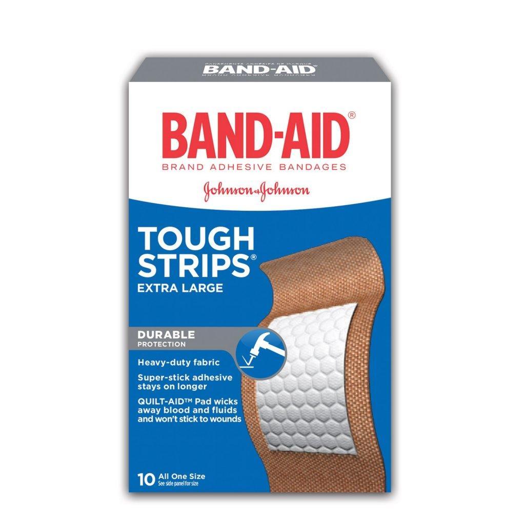 BAND-AID Tough Strips Extra Large Heavy Duty Adhesive Bandages