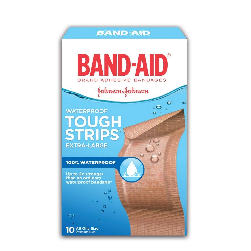 BAND-AID Tough Strips Extra Large Waterproof Bandages