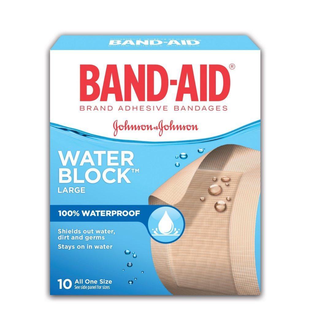 BAND-AID Water Block Plus Box of Large Waterproof Bandages