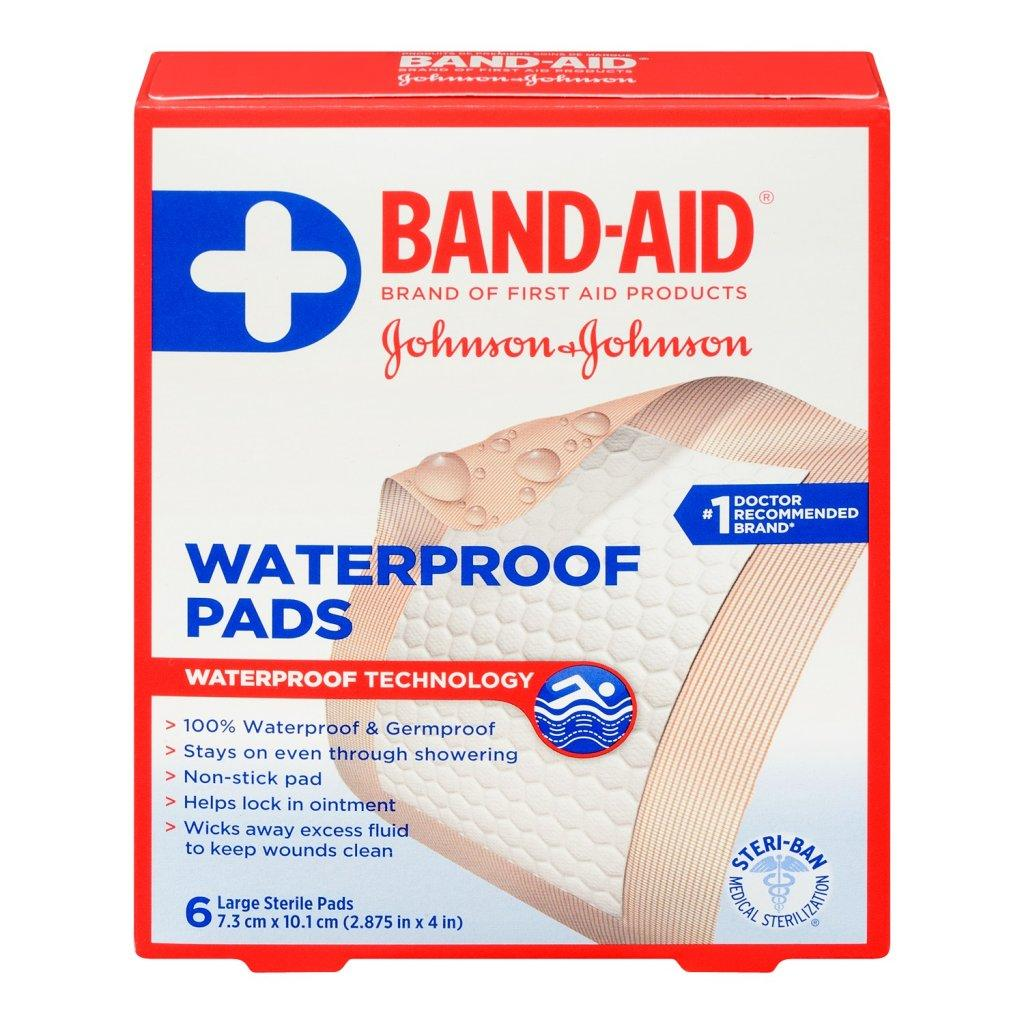 BAND-AID Large Waterproof Pads